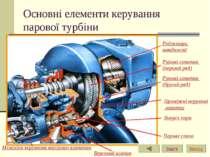 Основні елементи керування парової турбіни Механізм керування впускним клапан...