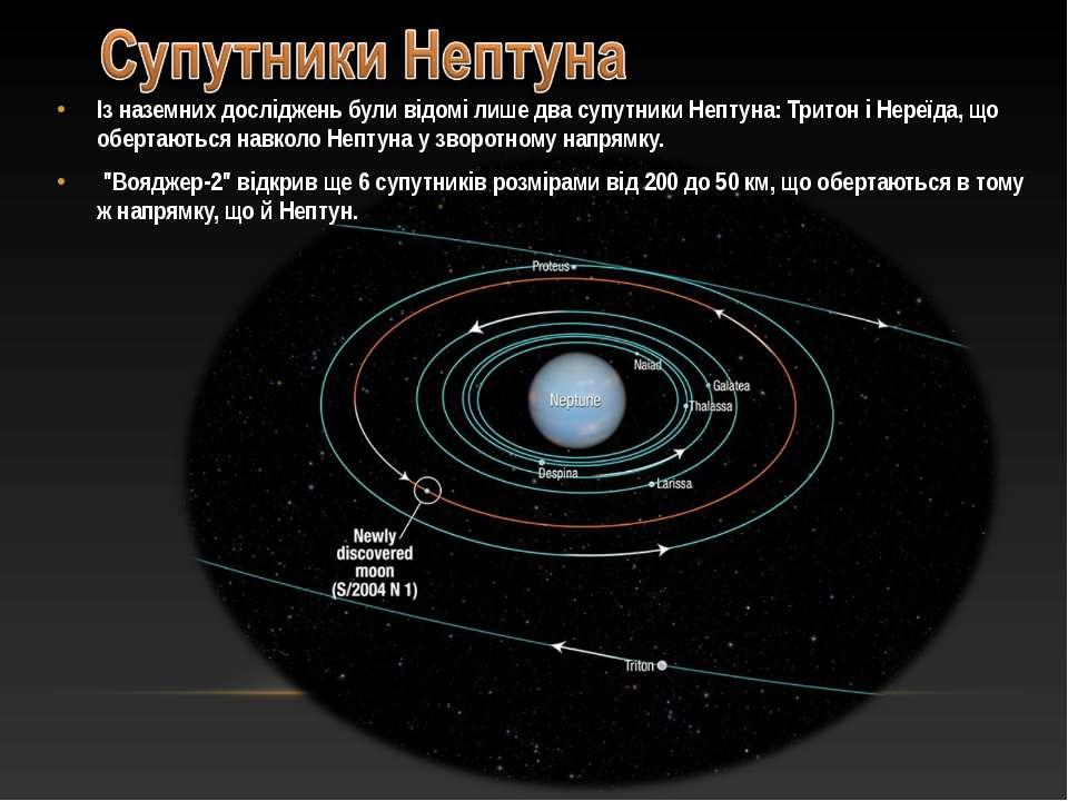 Із наземних досліджень були відомі лише два супутники Нептуна: Тритон і Нереї...