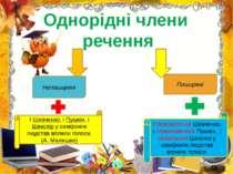 Однорідні члени речення Непоширені Поширені І Шевченко, і Пушкін, і Шекспір у...