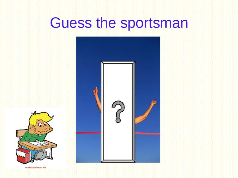 Guess the sportsman