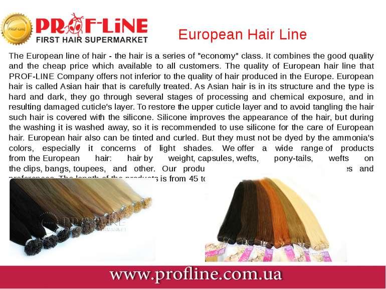 European Hair Line The European line of hair - the hair is a series of ...