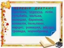 Любі діти! Бажаю успіхів у вивченні словникових слів !