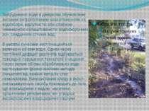 Забруднення води в джерелах обумовлене високим антропогенним навантаженням на...