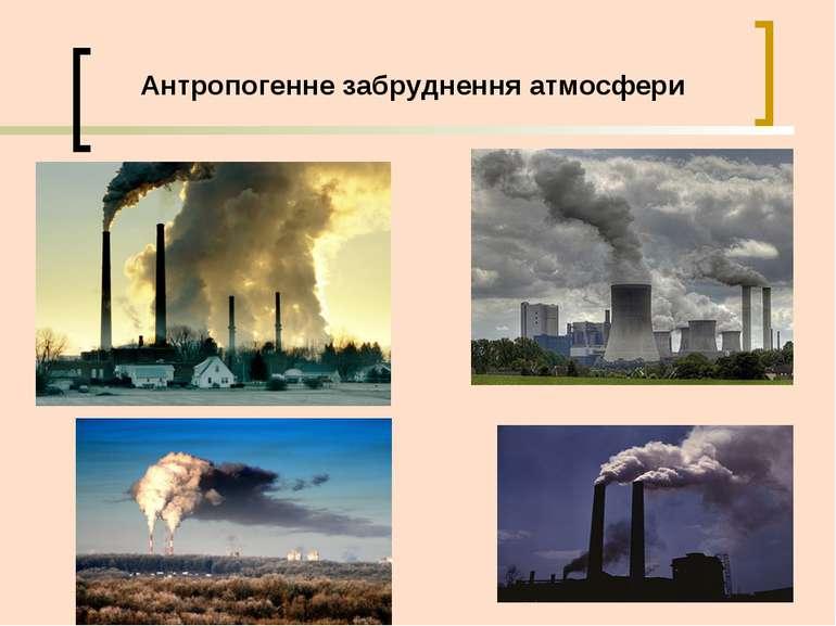 Антропогенне забруднення атмосфери