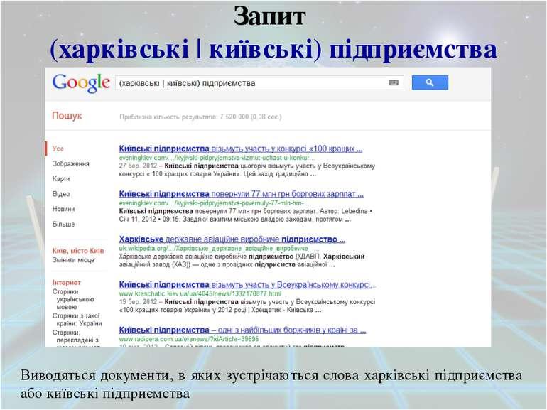 Обмеження області пошуку Оператор Опис Title Данийоператордозволяєшукатитільк...