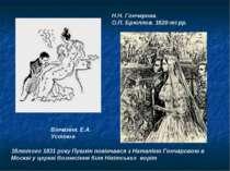 18лютого 1831 року Пушкін повінчався з Наталією Гончаровою в Москві у церкві ...