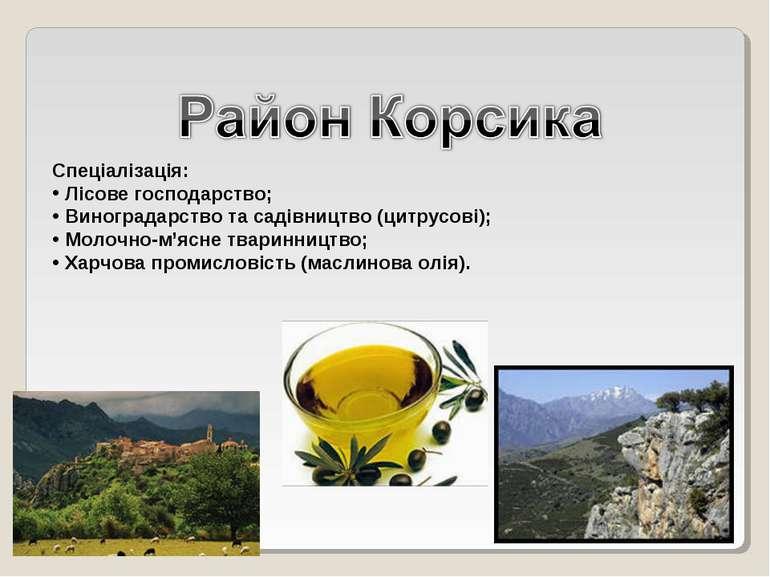 Спеціалізація: Лісове господарство; Виноградарство та садівництво (цитрусові)...
