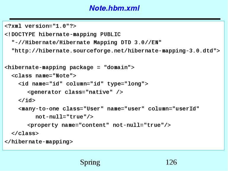 Note.hbm.xml Spring
