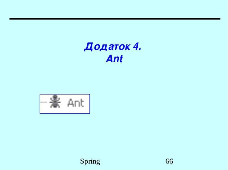 Додаток 4. Ant Spring