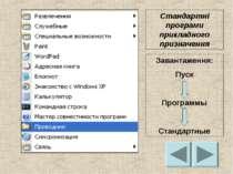 Стандартні програми прикладного призначення Завантаження: Пуск Программы Стан...