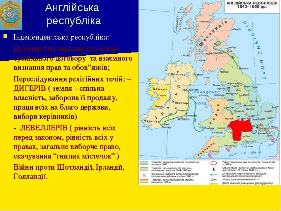 Англійська республіка Індепендентська республіка: Будівництво держави на осно...