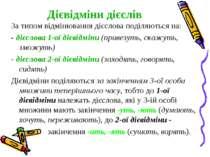 Дієвідміни дієслів За типом відмінювання дієслова поділяються на: -дієслова ...