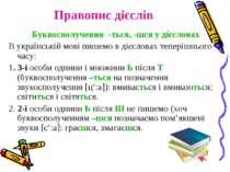Правопис дієслів Буквосполучення -ться, -шся у дієсловах В українській мові п...