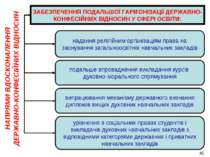 ЗАБЕЗПЕЧЕННЯ ПОДАЛЬШОЇ ГАРМОНІЗАЦІЇ ДЕРЖАВНО-КОНФЕСІЙНИХ ВІДНОСИН У СФЕРІ ОСВ...