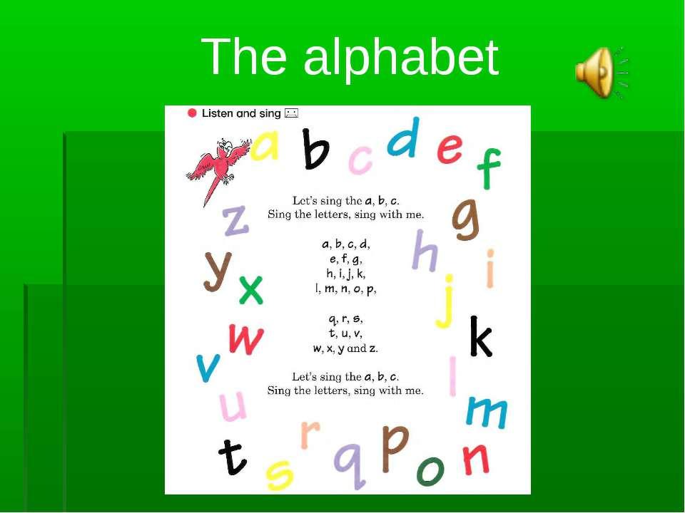 The alphabet