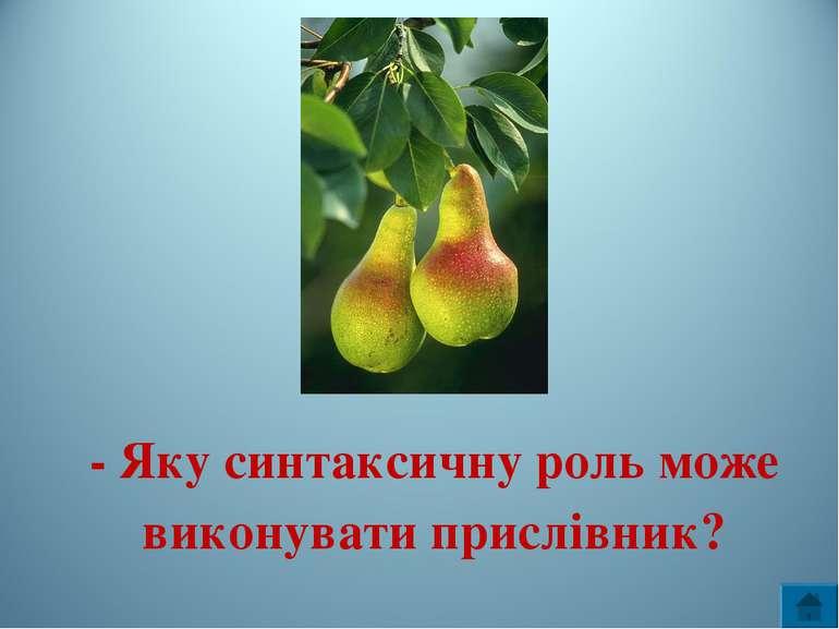 - Яку синтаксичну роль може виконувати прислівник?