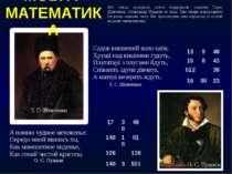 Які тільки прекрасні поезії подарували людству Тарас Шевченко, Олександр Пушк...