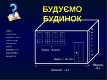 Задача. Для прикладу, вирахуємо, скільки потрібно цегли, щоб обкласти будинок...