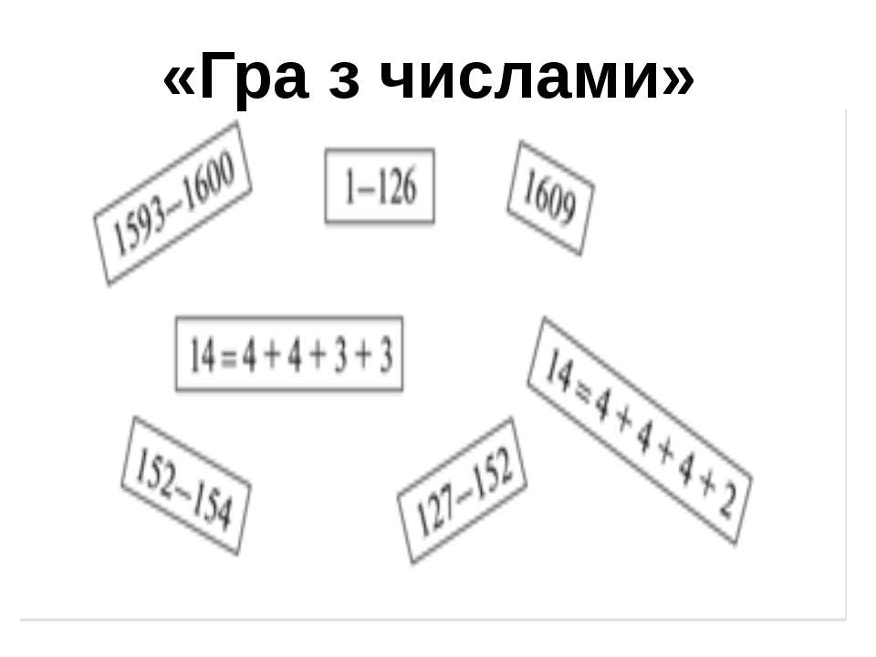 «Гра з числами»