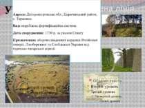 Українська укріплена лінія Адреса: Дніпропетровська обл., Царичанський район,...