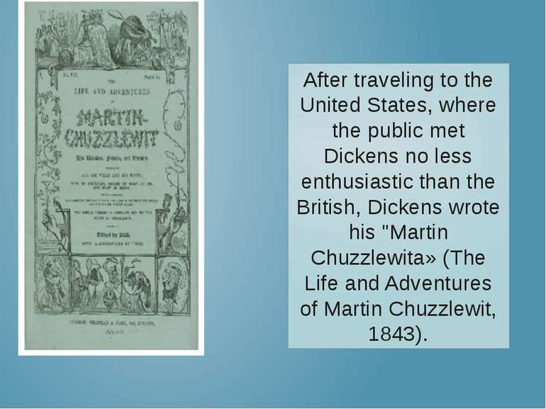 After traveling to the United States, where the public met Dickens no less en...