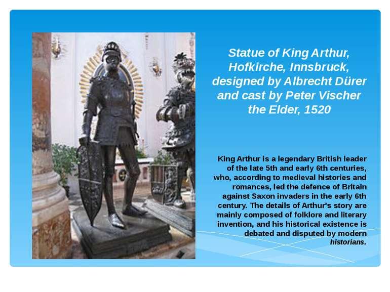 Statue of King Arthur, Hofkirche, Innsbruck, designed by Albrecht Dürer and c...