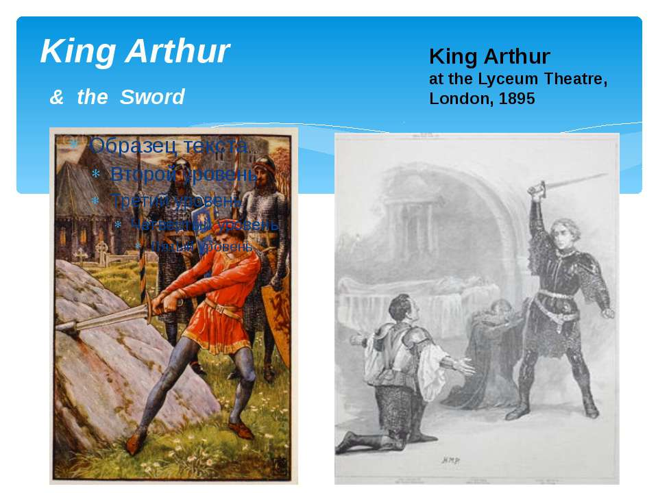 King Arthur & the Sword King Arthur at the Lyceum Theatre, London, 1895
