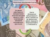 Управління державним боргом За умови ефективного використання залучені ресурс...