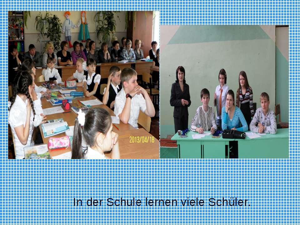 In der Schule lernen 494 Schüler. In der Schule lernen viele Schüler.