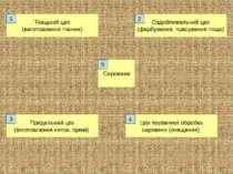 Сировина Цех первинної обробки сировини (очищення) Прядильний цех (виготовлен...
