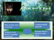 Мав велику силу та розум Загинув після битви з рудими собаками Допоміг Мауглі...
