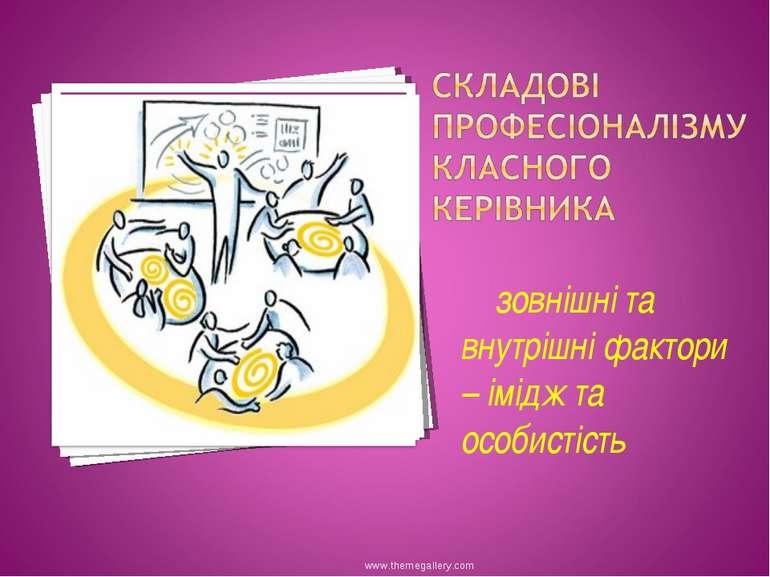 зовнішні та внутрішні фактори – імідж та особистість www.themegallery.com