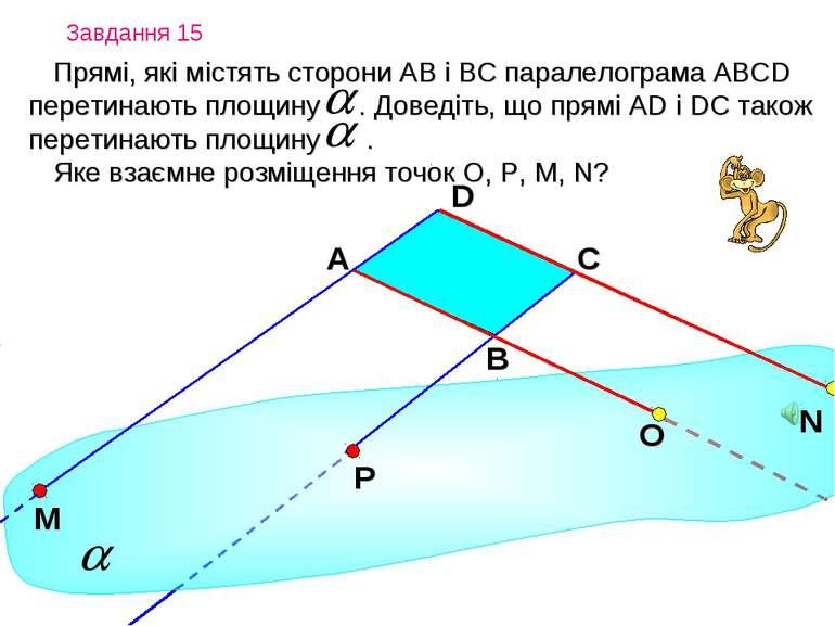 Завдання 15 Прямі, які містять сторони АВ і ВС паралелограма AВСD перетинають...