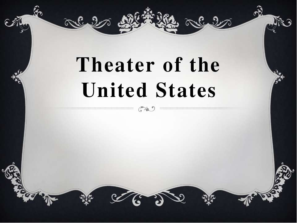 Theater of the United States