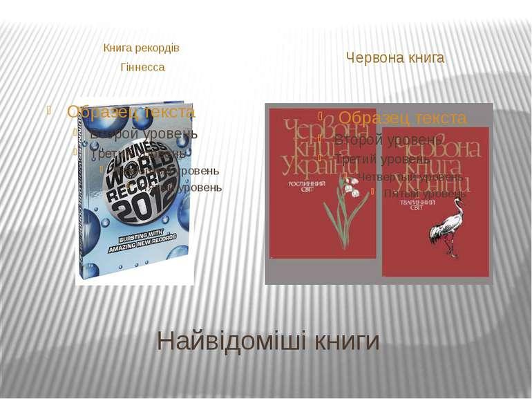 Найвідоміші книги Книга рекордів Гіннесса Червона книга