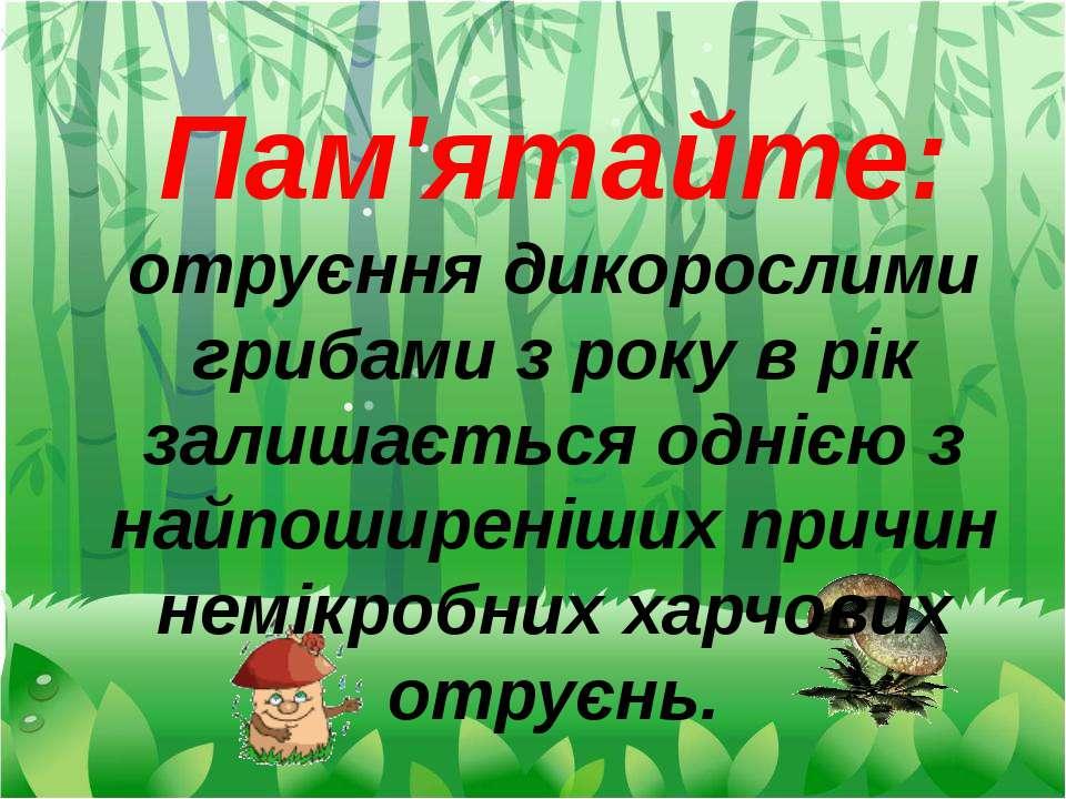 Пам'ятайте: отруєння дикорослими грибами з року в рік залишається однією з на...