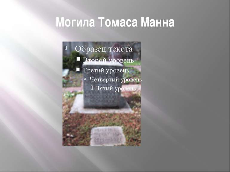 Могила Томаса Манна