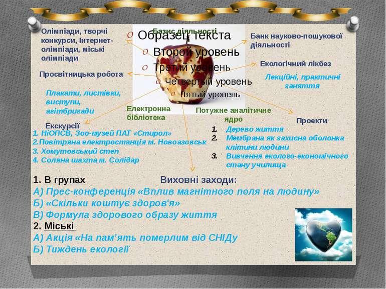 Базис діяльності Електронна бібліотека Потужне аналітичне ядро Банк науково-п...