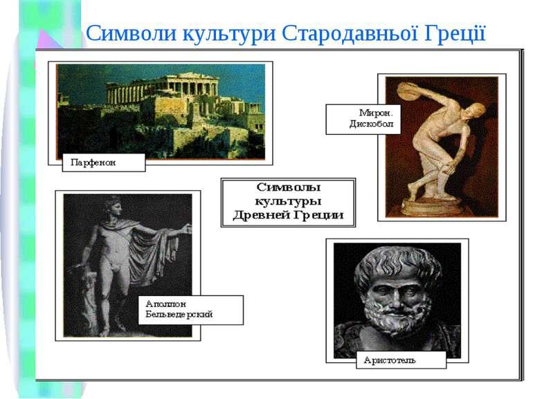 Символи культури Стародавньої Греції