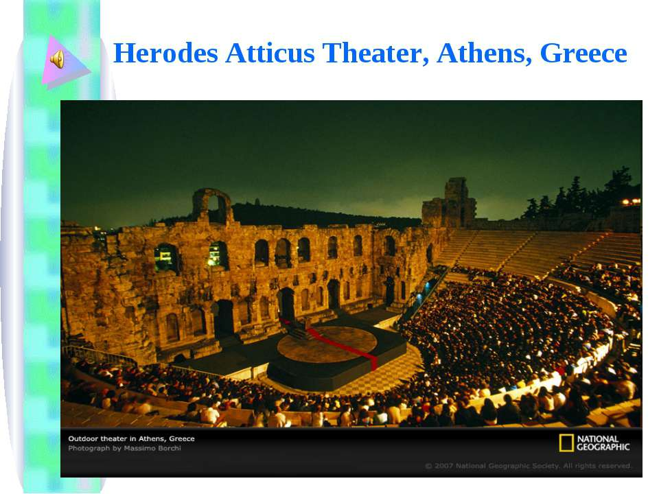 Herodes Atticus Theater, Athens, Greece