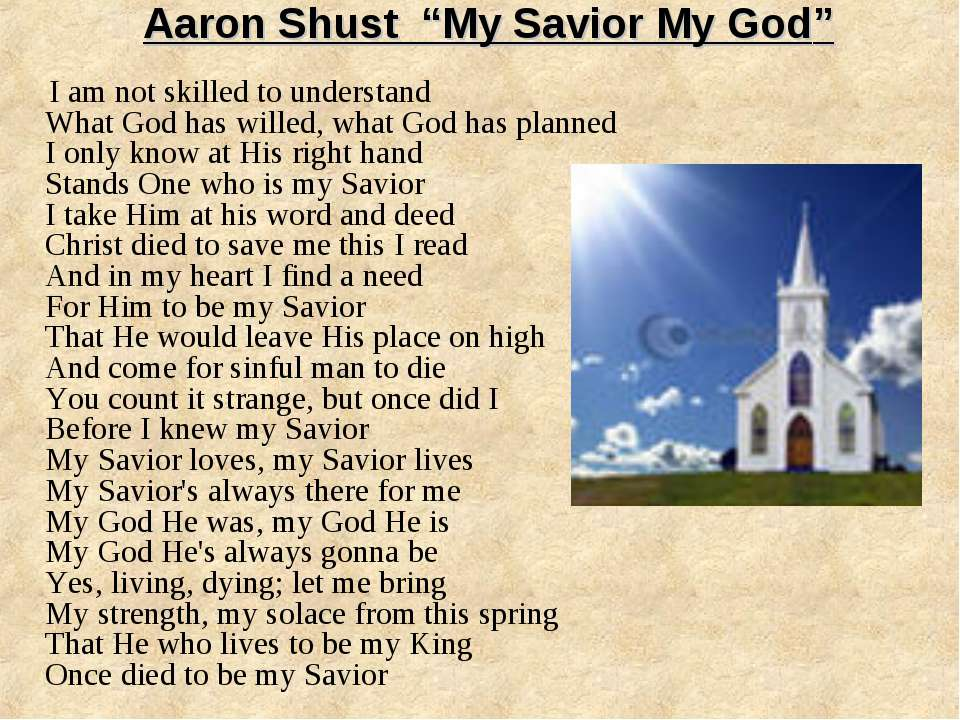 "Aaron Shust ""My Savior My God"" I am not skilled to understand What God has wi..."