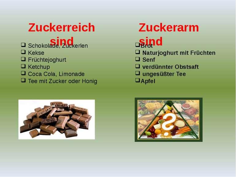 Zuckerreich sind Zuckerarm sind Schokolade, Zuckerlen Kekse Früchtejoghurt Ke...