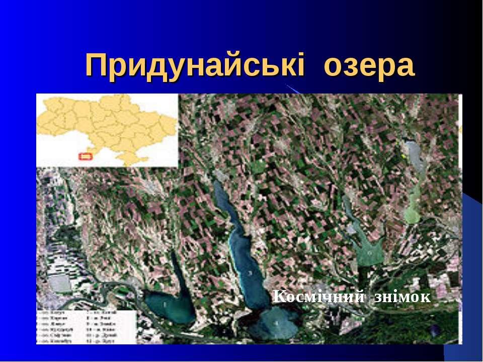 Придунайські озера Космічний знімок