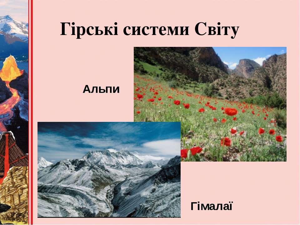 Гірські системи Світу Альпи Гімалаї