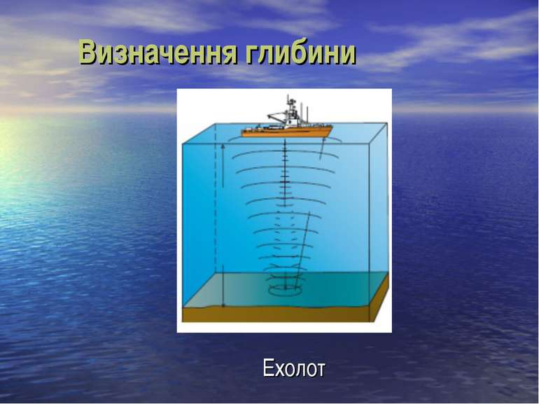 Визначення глибини Ехолот