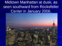 Midtown Manhattan at dusk, as seen southward from Rockefeller Center in Janua...