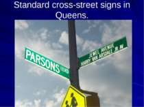 Standard cross-street signs in Queens.