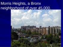 Morris Heights, a Bronx neighborhood of over 45,000.