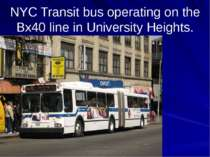 NYC Transit bus operating on the Bx40 line in University Heights.