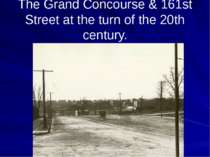 The Grand Concourse & 161st Street at the turn of the 20th century.